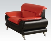 Contemporary Chair Orel Red by Acme Furniture AC50712