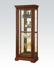 Contemporary Cherry Curio by Acme Furniture AC90062