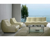 Contemporary Chic Leather Sofa Set 44LNB240