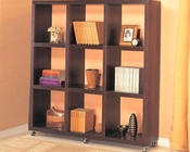 Contemporary Cube Bookcase with Casters CO800083