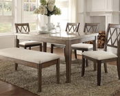 Contemporary Dining Set Claudia by Acme Furniture AC71715SET