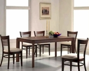 Contemporary Dining Set in Dark Walnut MO-6730