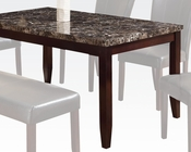 Contemporary Dining Table Idris by Acme AC70520