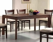 Contemporary Dining Table in Dark Walnut MO-6730TB