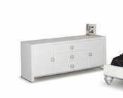 Contemporary Dresser in White Finish 44B141DR