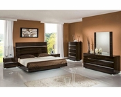 Contemporary Ebony Lacquer Bedroom Set 44B114SET