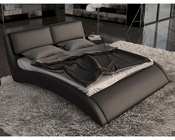 Contemporary Eco-Leather Bed w/ Curves 44B161BD
