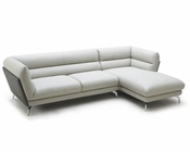 Contemporary Eco-Leather Sectional Sofa 44L5996