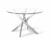 Contemporary Glass Circular Dining Table 44DT07-TB