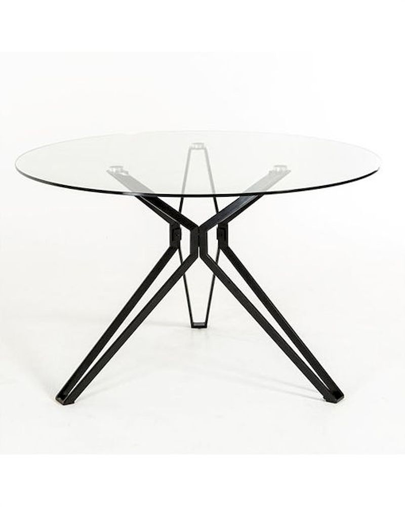Contemporary Glass Round Dining Table 44d6105dt 1