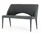 Contemporary Grey Fabric Bench 44D8081CH