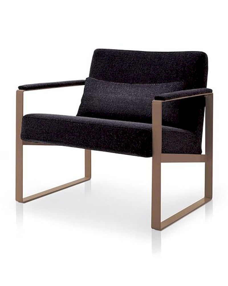 Contemporary Grey Fabric Lounge Chair 44OR015