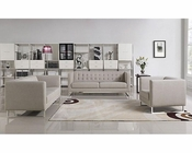 Contemporary Grey Fabric Sofa Set 44L5949