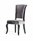 Contemporary Grey Fabric w/ Black Frame Chair 44D304-GRY (Set of 2)