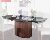 Contemporary Grey Walnut Veneer Dining Table 44D2609X-3