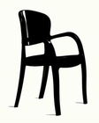 Contemporary High Gloss Italian Chair 44D213-CH