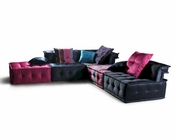 Contemporary Imitation Silk Fabric Sectional Sofa 44L103DA