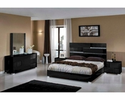 Contemporary Italian Black Bedroom Set 44B111SET