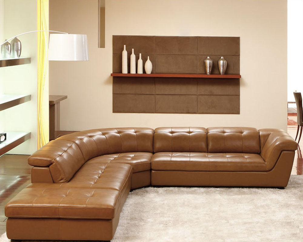 Contemporary Italian Leather Sectional Set ESF8095