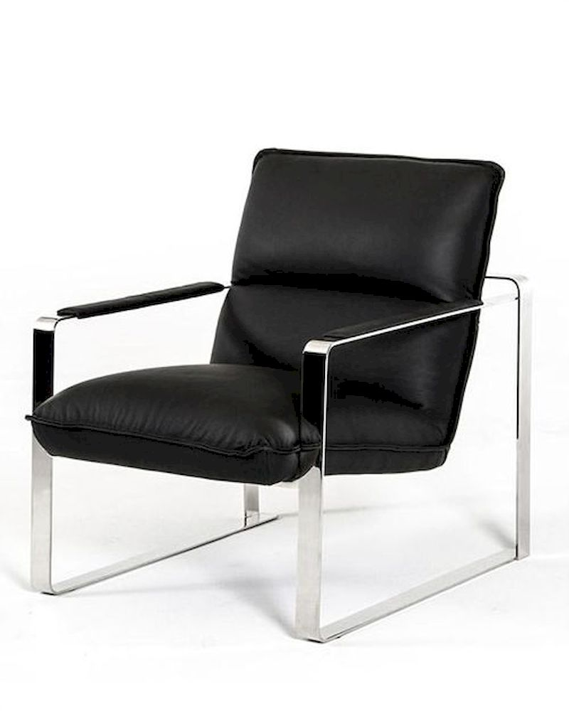 contemporary leather lounge chair 44lg791