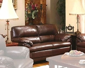 Contemporary Leather Loveseat MO-AZNL