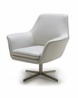 Contemporary Leather Swivel Lounge Chair 44O832