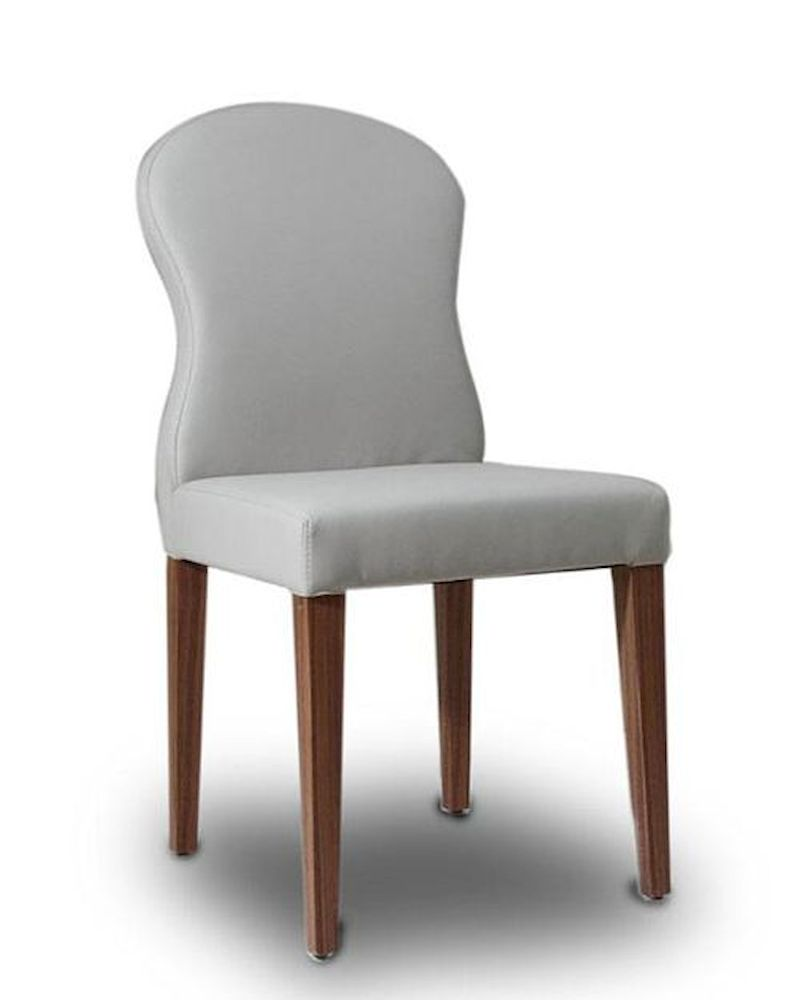 Contemporary Light Grey Eco Leather Dining Chair 44D8968CH