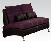 Contemporary Loveseat Jolie Purple by Acme Furniture AC51751