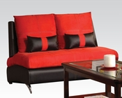 Contemporary Loveseat Jolie Red by Acme Furniture AC51746