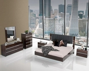 Contemporary Luxury Ebony Lacquer Bedroom Set 44B116SET