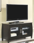 Contemporary Media Console with Glass Doors CO700647