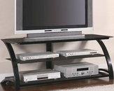 Contemporary Metal and Glass Media Console CO700664