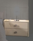 Contemporary Night Stand in Ivory Glossy Finish 33B133