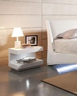 Contemporary Open Nightstand in White Finish 44B142NS