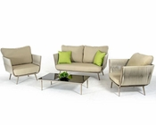 Contemporary Outdoor Acrylic Fabric Sofa Set 44P210-SET