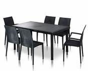 Contemporary Patio Dining Table Set 44P113-SET