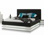 Contemporary Platform Bed w/ Lights 44B180BD