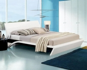 Contemporary Platform Glossy Bed w/ Lights 44B203BD