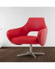 Contemporary Red Eco-Leather Lounge Chair 44O755-RED