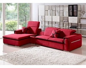 Contemporary Red Fabric Sectional Sofa 44L6044