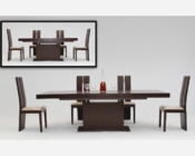 Contemporary Red Oak Dining Set w/ Extendable Table 44D841XTRO-SET