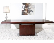 Contemporary Red Oak Extendable Dining Table 44D841XTRO