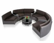 Contemporary Rounded Sectional Patio Set 44P224-SET