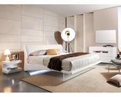 Contemporary Set w/ Floating Bed with Lights 44B142SET