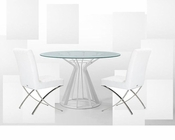 Contemporary Set w/ Round Dining Table 44DAT124-SET