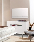 Contemporary Six Drawer Dresser w/ Mirror in White Finish 44B142DR