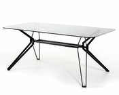 Contemporary Smoked Glass Table 44D6112DT