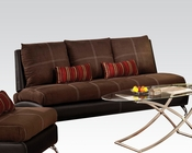 Contemporary Sofa Jolie Chocolate by Acme Furniture AC51760