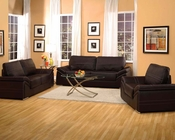 Contemporary Sofa Set Ember Espresso by Acme Furniture AC51695SET