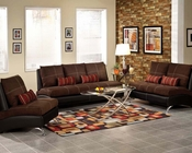 Contemporary Sofa Set Jolie Chocolate by Acme Furniture AC51760SET